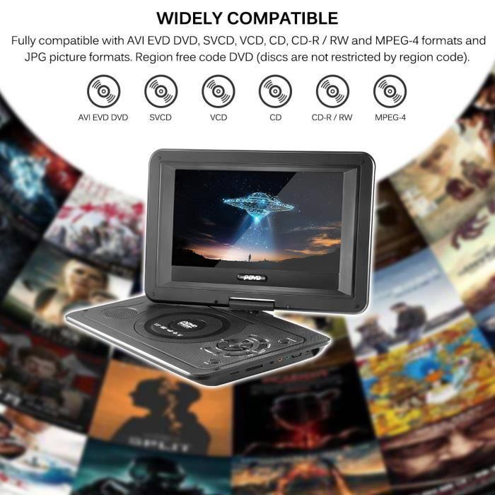 DVD mobile portable de 13.9 pouces avec lecteur mini-TV HD