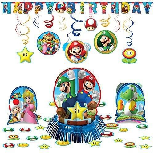 Super Mario Bros Suspendus Kit De Decoration Pack Fete Anniversaire Pour Enfants Rysi1 Achat Vente Kit De Decoration Cdiscount