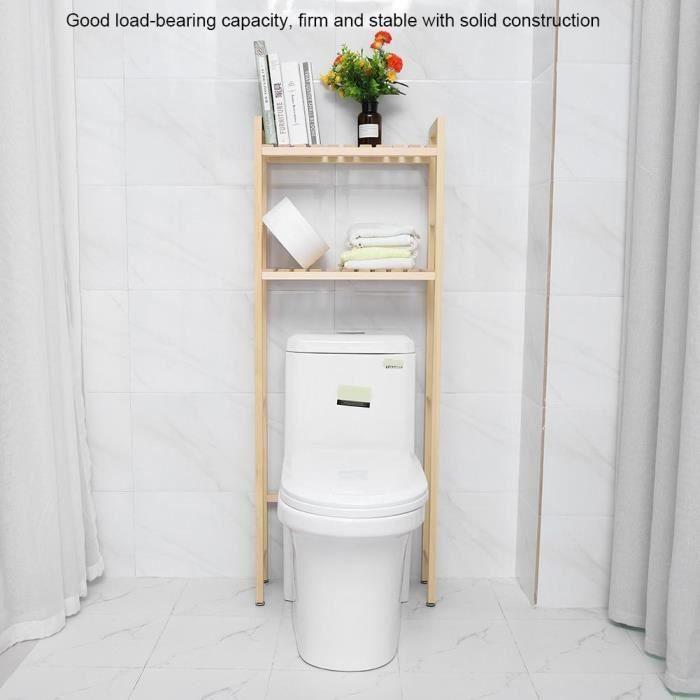 LIA 2 Niveaux étagère de toilette Tablette de rangement en ...