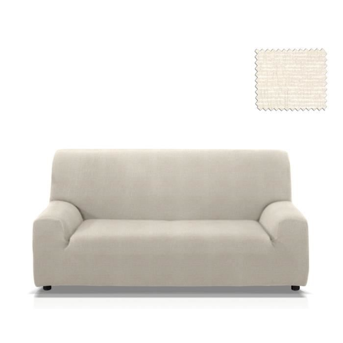 housse de canap lastique granadella taille 3 places de 170 210 cm couleur ecru achat. Black Bedroom Furniture Sets. Home Design Ideas