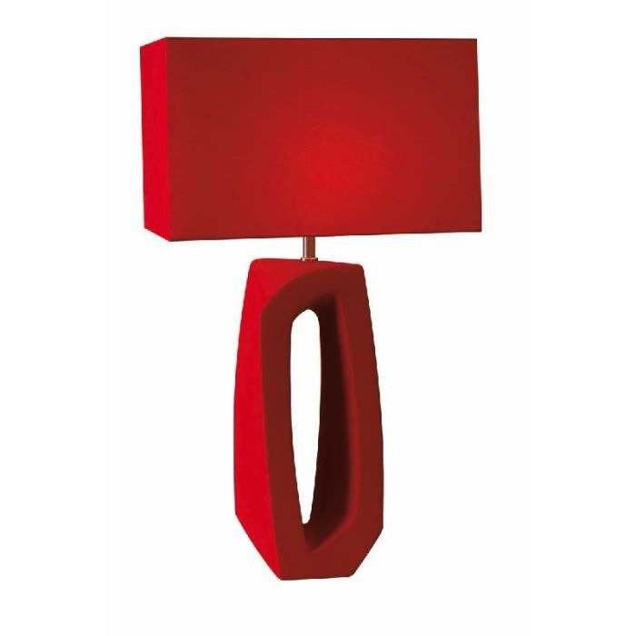 lampe haute design rouge c ramique collecti achat vente lampe haute design rouge. Black Bedroom Furniture Sets. Home Design Ideas
