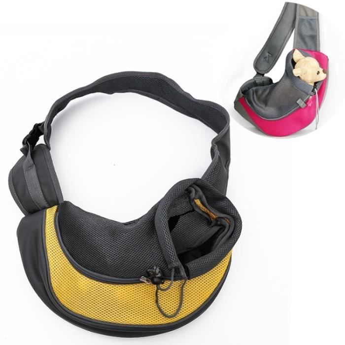 (#110) Dog And Cat Sling Carrier Hands Free Reversible Pet Papoose Bag, Size?small(yellow)