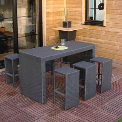 ensemble table bar r sine tress e 6 tabourets achat vente salon de jardin ensemble table. Black Bedroom Furniture Sets. Home Design Ideas