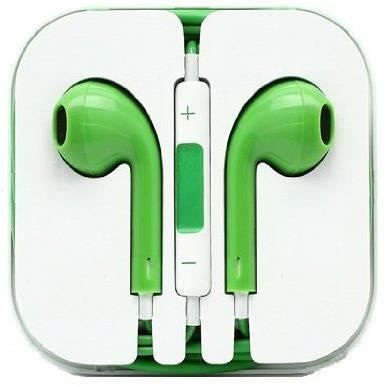 ecouteur pour iphone 5 earpods couleur vert achat kit. Black Bedroom Furniture Sets. Home Design Ideas