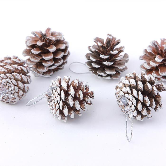 12pcs Pomme de pin balle Boule de Noël Décoration   Achat / Vente
