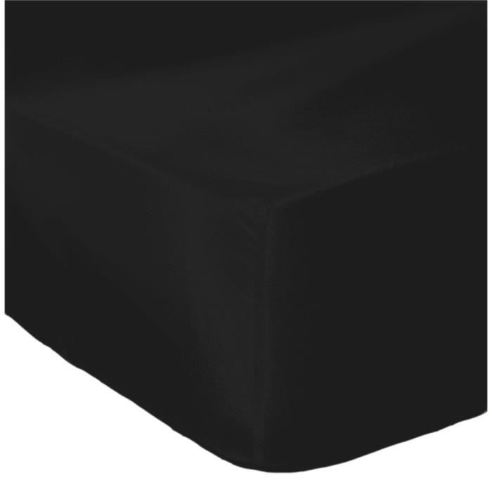 drap housse grand bonnet noir achat vente drap housse cdiscount. Black Bedroom Furniture Sets. Home Design Ideas