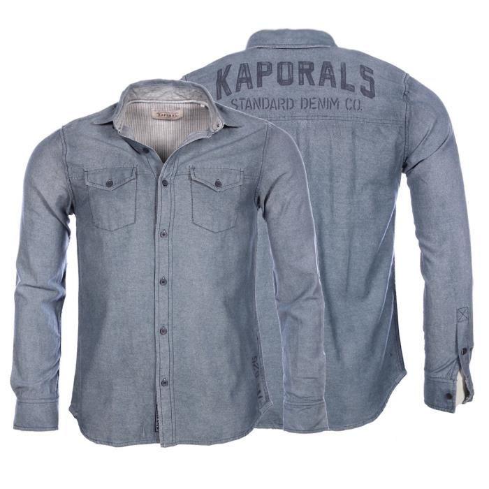 Kaporal - Homme - Chemise en jeans Blur hiver