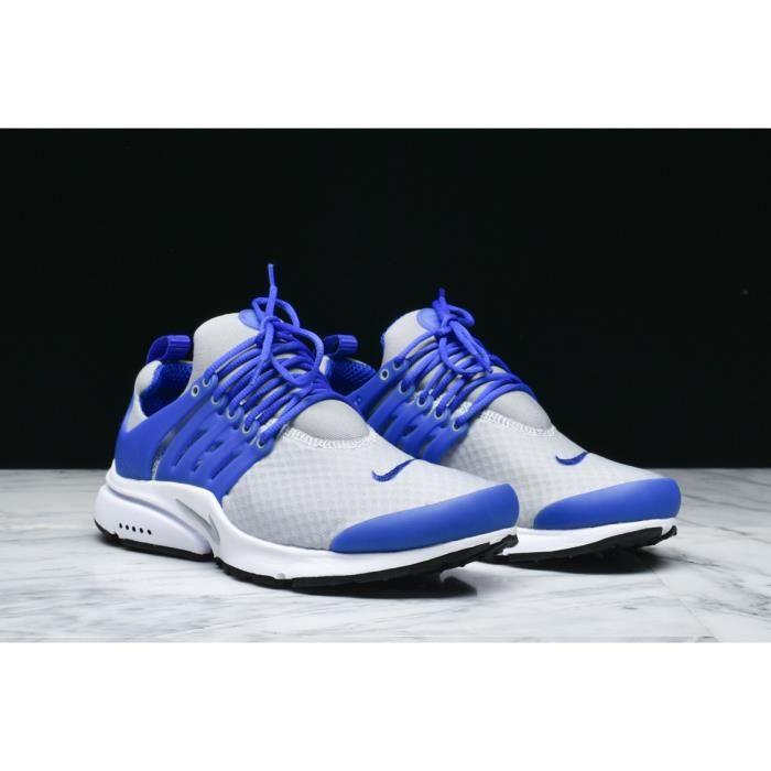 Baskets Nike Air PRESTO Essential, Modèle 848187 010 Homme Gris Bleu.