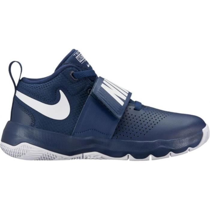 best service 7fcc2 00bb1 Nike Team Hustle 8 bleu, chaussures de basketball enfant