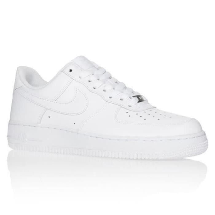 Basket Nike Air Force 1 Low Blanche Homme AF1 Airforce One ...
