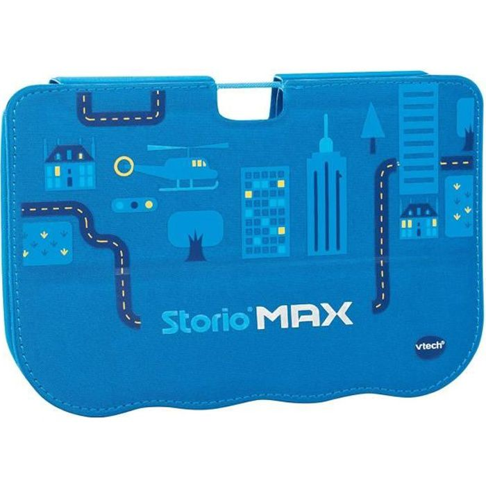Vtech storio max 5 39 39 etui support bleu achat vente for Housse storio max 5