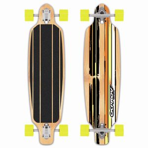 SKATEBOARD - LONGBOARD OSPREY Longboard Twin Tip Drop Through Adulte