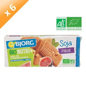BISCUITS SECS BJORG Biscuits Soja Figues Bio - 240 g x6