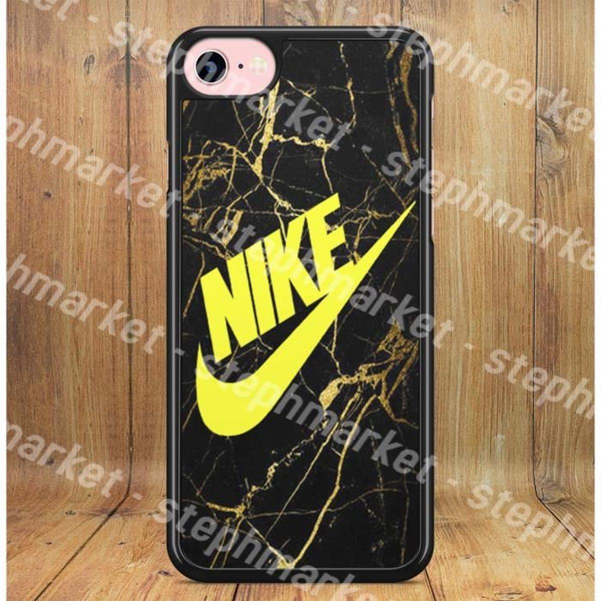 coque iphone 6 6s nike effet marbre gold noir or l