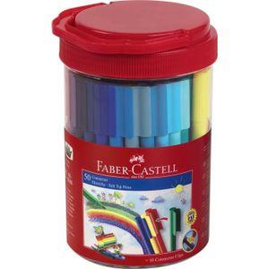 FEUTRES FABER-CASTELL Tube de 50 feutres Connector - Color