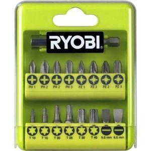 ACCESSOIRE MACHINE RYOBI Boîte cristal 17 accessoires de vissage