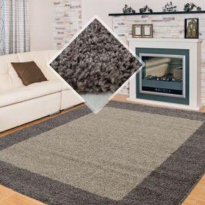 TAPIS Tapis Shaggy pile longue designe 2 couleur differe