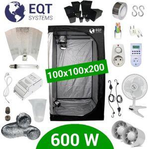 KIT DE CULTURE Pack Tente 600W 100x100 - ETI + Supacrop