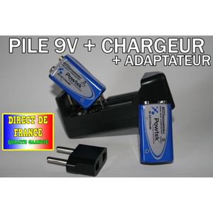 chargeur pile rechargeable 9v achat vente jeux et. Black Bedroom Furniture Sets. Home Design Ideas