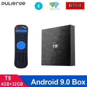 BOX MULTIMEDIA T9 4 Go 32 Go RK3318 Quad Core Smart Android 9.0 T
