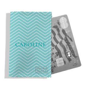 Pochette de voyage personnalis/ée pour femme P2083-2015 porte documents personnalisable motif graphique bleu ciel R/éf
