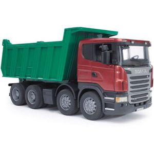 VOITURE - CAMION BRUDER - 3550 - Camion benne Scania R-serie - 54 c