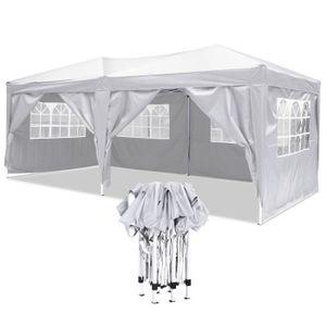 TONNELLE - BARNUM Tente de réception Pliante 3 x 6m pliante  blan