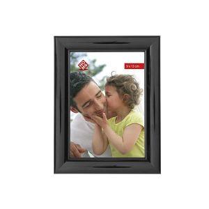 CADRE PHOTO HOME Set 6 Portafoto plastica verticali nero 9x13