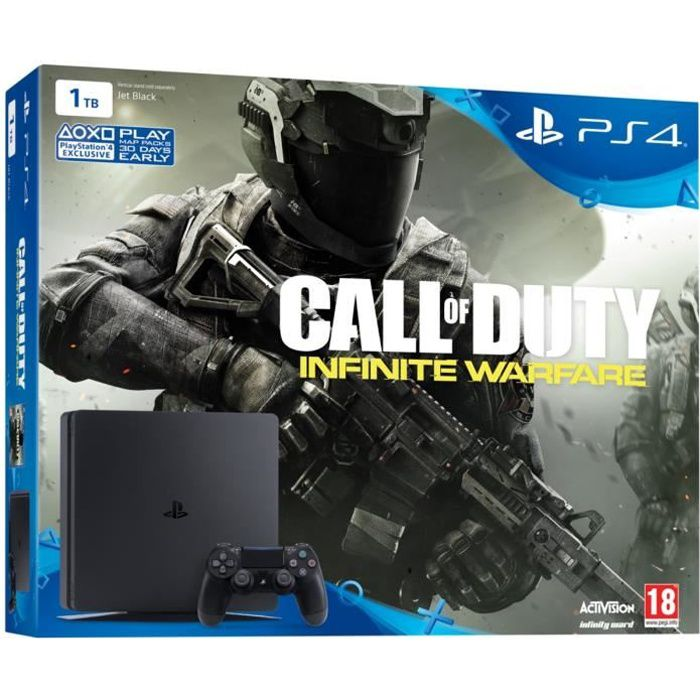 nouvelle ps4 slim 1 to jeu call of duty infinite warfare achat vente console ps4 ps4 slim. Black Bedroom Furniture Sets. Home Design Ideas
