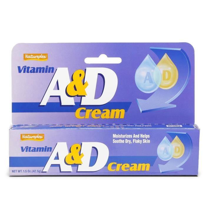 Natureplex Crème à la vitamine A et D. 42,5 g. hydratant pour le corps