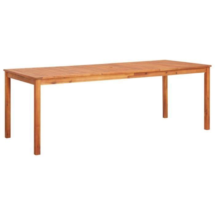 Table de jardin 215x90x74 cm Bois d'acacia massif