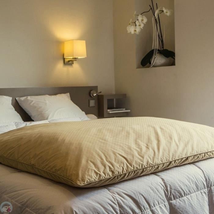 Housse d édredon jacquard beige 200x170 cm