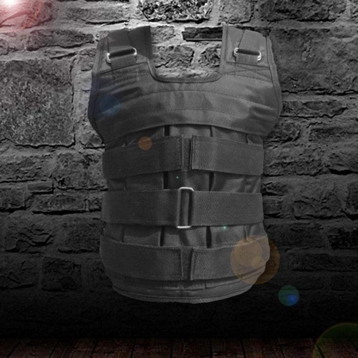 Xiaomu - Gilet lesté, gilet de fitness de 15-50 kg, entraînement de force et d'endurance, poids en métal amovibles, tissu Oxfo A290