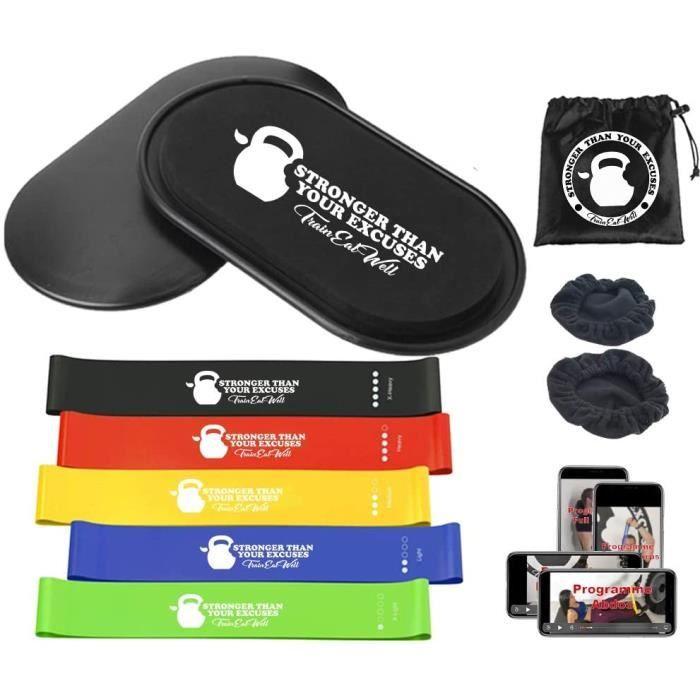 Bande de résistance élastique kit sport maison core sliders disque de glisse mini bande de resistance elastique fitness musculat68