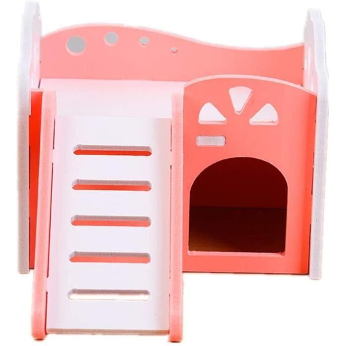 jieqing Hamster Maison Lapin Hamster Jouets Nain Hamster Cage Hamster Accessoires Hamster Pink295