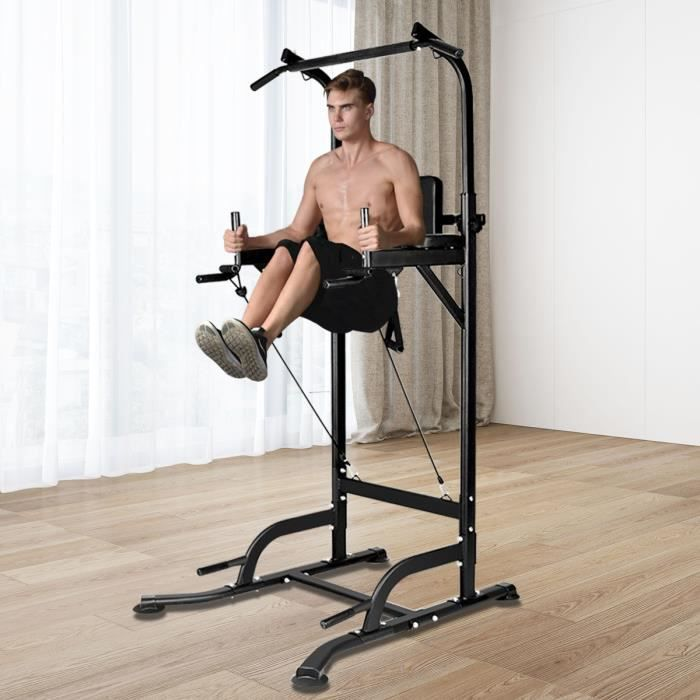 {Uier Sen} Pullup Barre de traction ajustable musculation dips station - Power Tower Barre de Traction pour Musculation à Domicile