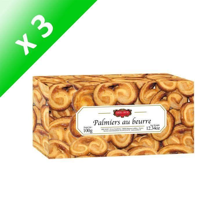 [LOT DE 3] ERIC BUR Palmiers au Beurre - 100 g