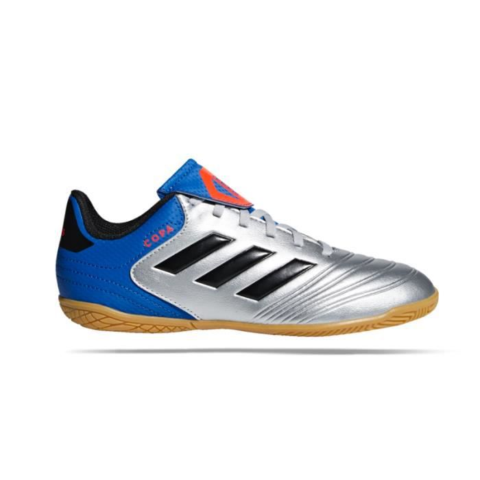Chaussures de football Sala ADIDAS Copa Tango 18.4 Team Mode Suela Lisa Plata Niño