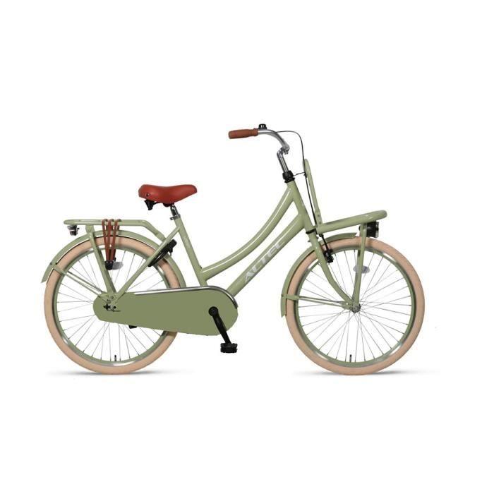 Vélo Enfant Fille 26 Pouces Urban Frein Avant sur Le Guidon et Le Frein Arrière à Rétropédalage 85% Assemblé Vert