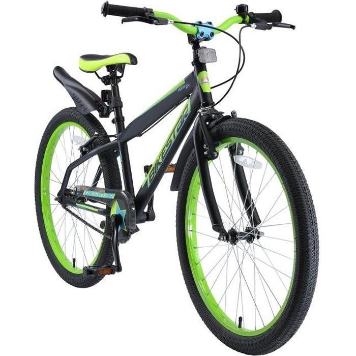 Vélo enfant évolutive 24 pouces - BIKESTAR - pour garcon et filles de 10-13 ans - Edition VTT - Noir Vert