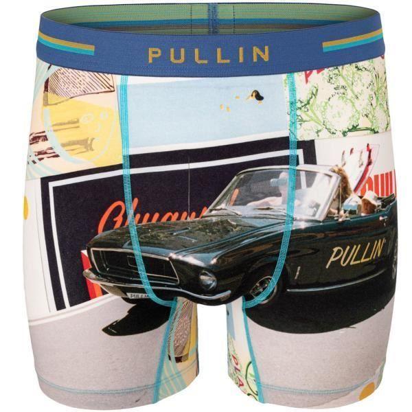 PULL IN Boxer Long Homme Coton Bio ROLLINGSUN Gris