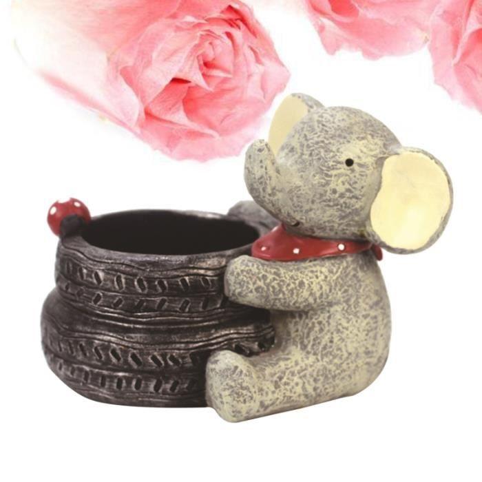 Dessin animé éléphant Pots de fleurs chambre d'enfants décor de bureau en pot de créatif décoration de JARDINIERE - BAC A FLEUR