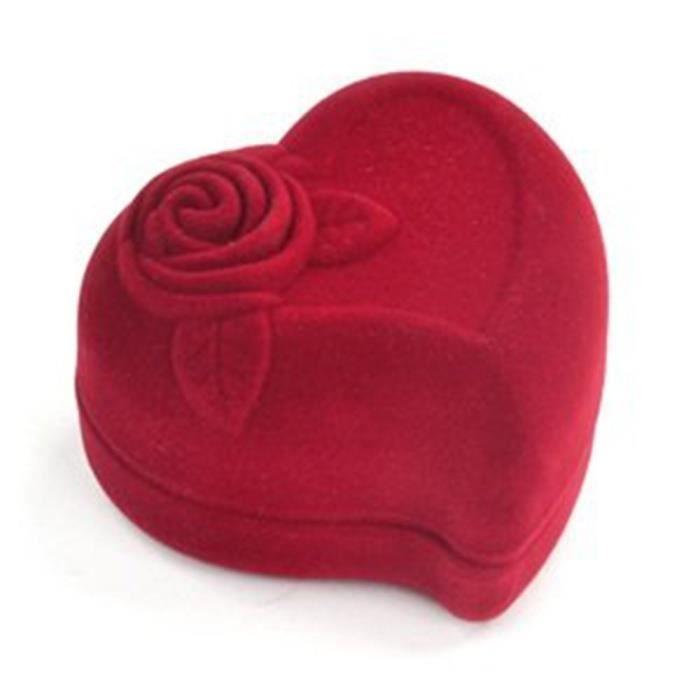 TRIXES Coffret cadeau bijoux bague en forme de coeur de l'amour pour l'engagement de la proposition et mariage et anniversaire