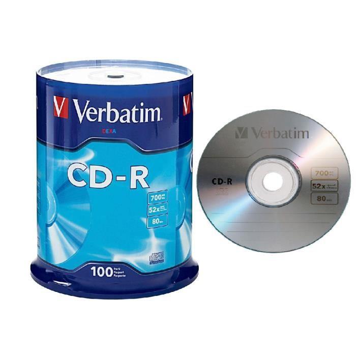 100 CD-R VERBATIM