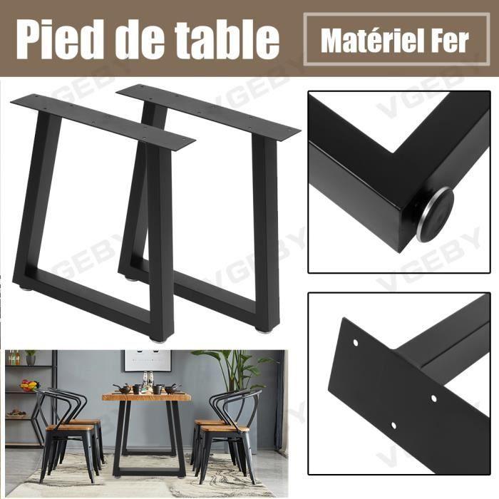 Pieds de table en fer Noir Piètement Meuble CYA20
