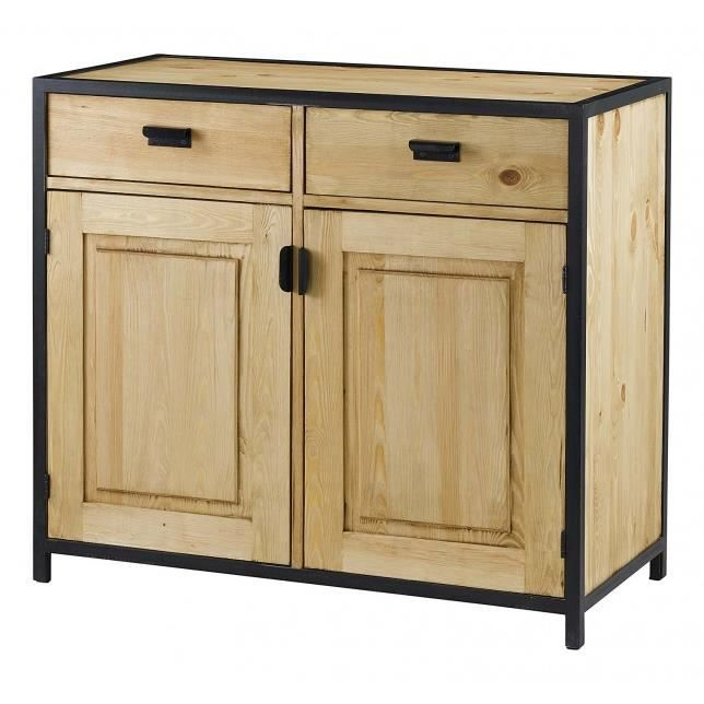 bahut en bois et m tal achat vente buffet bahut. Black Bedroom Furniture Sets. Home Design Ideas
