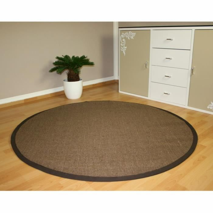 tapis 100 bio en fibres naturelles 180cm achat vente tapis cdiscount. Black Bedroom Furniture Sets. Home Design Ideas