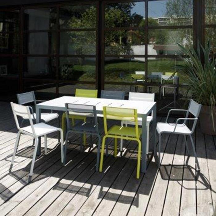 Salon de jardin en aluminium Oléron 4 chaises et 2 fauteuils ...