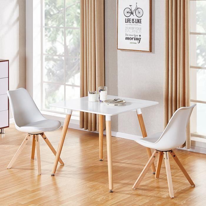Table scandinave bois en Toscana manger à carée 8nP0Owk