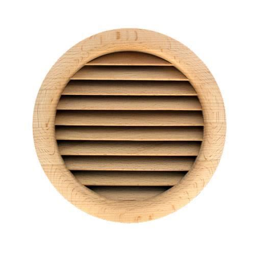 grille ventilation ronde bois encastrer 110 achat. Black Bedroom Furniture Sets. Home Design Ideas